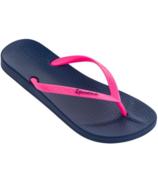 Ipanema Adult Ana Tan Flip Flop Sandals Navy/Pink