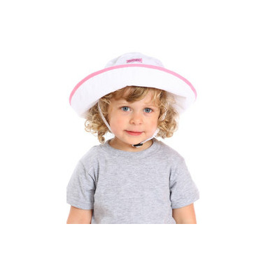 Snug As A Bug Adjustable Sun Hat SPF 50+ White and Pink
