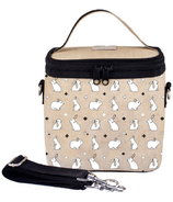 SoYoung Raw Linen Bunny Tile Small Cooler Bag