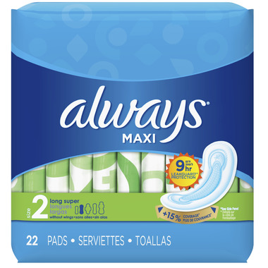 Always Maxi Super Pads without Wings Unscented