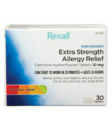 Rexall Extra Strength 24 Hour Allergy Relief (10mg Cetirizine)