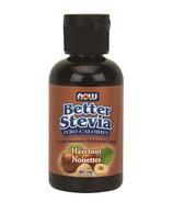 NOW Better Stevia Liquid Sweetener Hazelnut