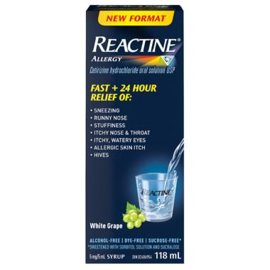 Reactine Allergy Antihistamine Liquid 24 Hour Relief
