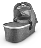 UPPAbaby V2 Bassinet Jordan Charcoal Melange Silver Black Leather