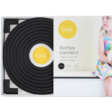 Bink Black Bumpy Connect Safety Corner & Edge Cushions