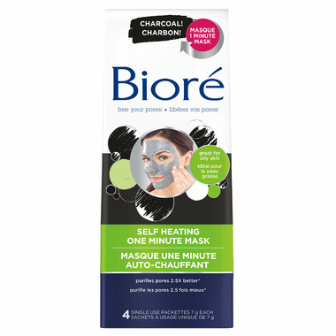 Biore Self Heating Mask With Natural Charcoal