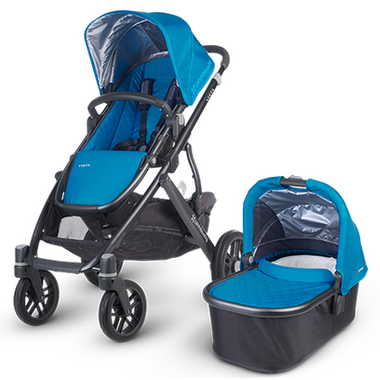 Buy UPPAbaby Vista Stroller Georgie Marine Blue & Carbon ...