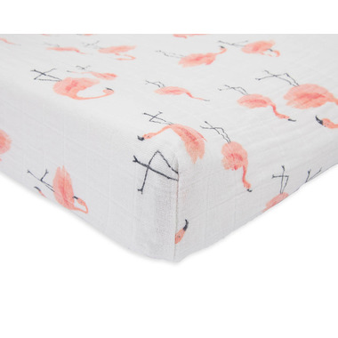 Little Unicorn Cotton Muslin Changing Pad Cover Pink Ladies