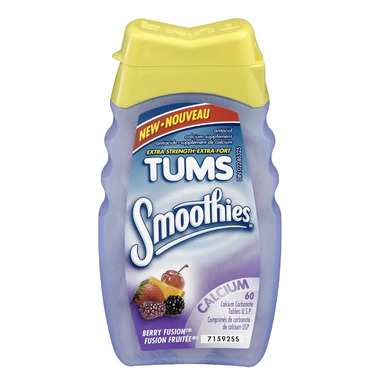 Tums Smoothies Extra Strength Antacid Calcium Tablets