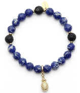 Oriwest Pineapple Sea Sediment Lava Bead Bracelet