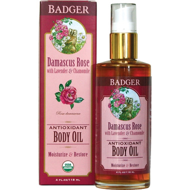 Badger Damascus Rose Body Oil