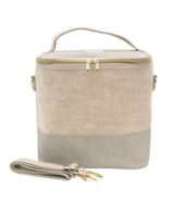SoYoung Linen Lunch Poche Cement Colour Block