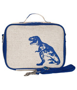 SoYoung Raw Linen Blue Dinosaur Lunch Box
