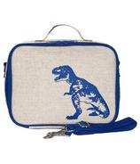SoYoung Raw Linen Blue Dinosaur Lunch Box