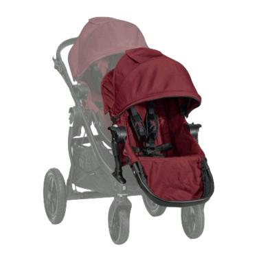 Baby Jogger City Select Black Frame & Second Seat Kit Garnet