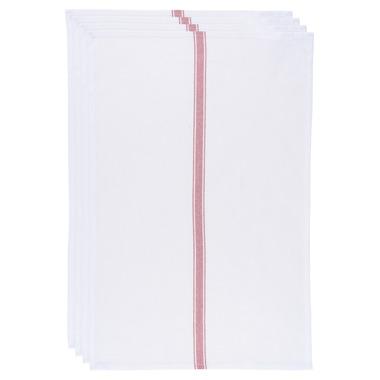 Now Design Brooklyn Stripe Dish Towel Set Poppy