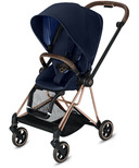Cybex Mios Rose Gold Frame with Indigo Blue Seat Pack