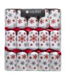 Walpert Red Glittery Snowflake Crackers