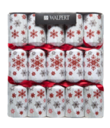 Walpert Red Glittery Snowflake Crackers 10 Pack
