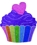 iScream Cupcake Rhinestone Decal