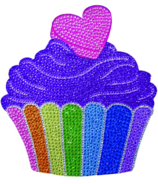 iScream Cupcake Rhinestone Decal
