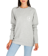 Brunette The Label Babes Supporting Babes Crest Crewneck Pebble Grey