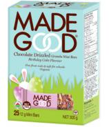 MadeGood Chocolate Drizzled Granola Mini Bars Birthday Cake Flavour