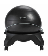 Gaiam Backless Balance Ball Chair Charcoal