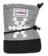 Stonz Silver Snowflake Infant Booties