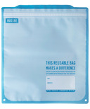 Russbe Reusable Freezer Bags Statement Blue