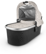 UPPAbaby V2 Bassinet Sierra Dune Knit Silver Black Leather
