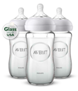 Philips AVENT Natural 8 oz Glass Feeding Bottles