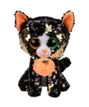 Ty Flippables Jinx The Halloween Sequin Cat Medium