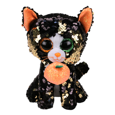 Ty Flippables Jinx The Halloween Sequin Cat Regular
