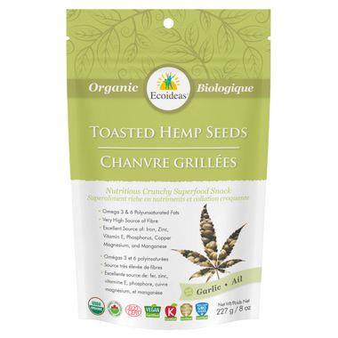 Ecoideas Organic Garlic Toasted Hemp Seeds