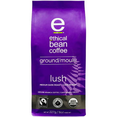 Ethical Bean Coffee Lush Medium Dark Roast Ground Coffee