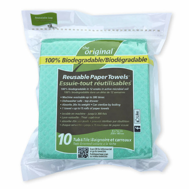 The Original Tub and Tile Biodegradable Reusable Paper Towels