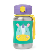 Skip Hop Zoo Stainless Steel Straw Bottle Unicorn