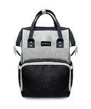 Stonz Urban Pack Backpack Diaper Bag Grey and Black