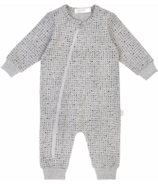 Miles Baby Playsuit in Our Not-So-Basic Heather Grey Splash Print 3M-24M