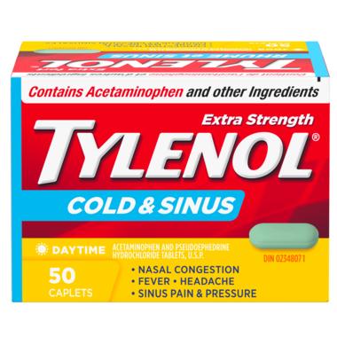 Tylenol Cold & Sinus Extra Strength Daytime Caplets