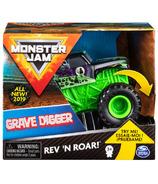 Monster Jam Official Rev 'N Roar Grave Digger Monster Truck 1:43 Scale
