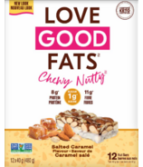 Love Good Fats Boîte de Barres au Caramel Salé aux Noix Croquantes