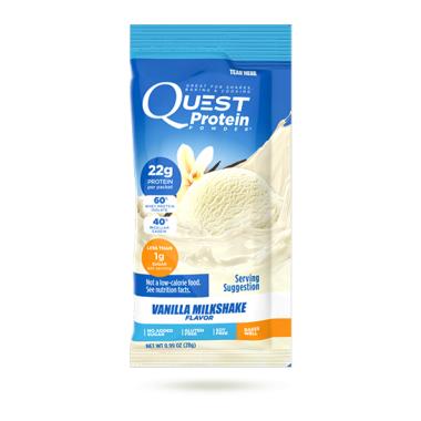 Quest Nutrition Vanilla Milkshake Protein Powder Packet