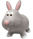 Farm Hoppers Inflatable Bouncing Rabbit Grey
