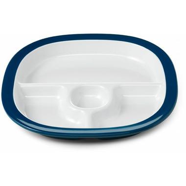 OXO Tot Melamine Divided Plate Navy