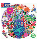 eeBoo Birds And Flowers Round Puzzle