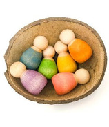 Grapat Wood Coloured Baby Nins with Coconut Shell