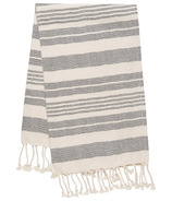 Danica Studio Hammam Towel Black Stripe