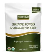 Rootalive Shatavari Biologique en Poudre